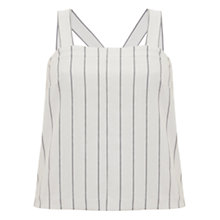 Buy Mint Velvet Stripe Swing Vest, Ivory/Multi Online at johnlewis.com