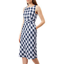 Buy Hobbs Myra Gingham Dress, White/Navy Online at johnlewis.com
