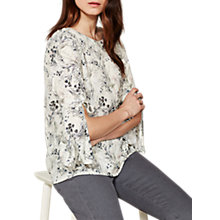 Buy Mint Velvet Rafeal Print Tie Sleeve Blouse, Multi Online at johnlewis.com