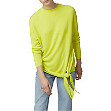 Buy Warehouse Tie Front Jumper, Yellow Online at johnlewis.com