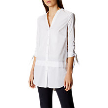 Buy Karen Millen Oversized Tunic Shirt, White Online at johnlewis.com