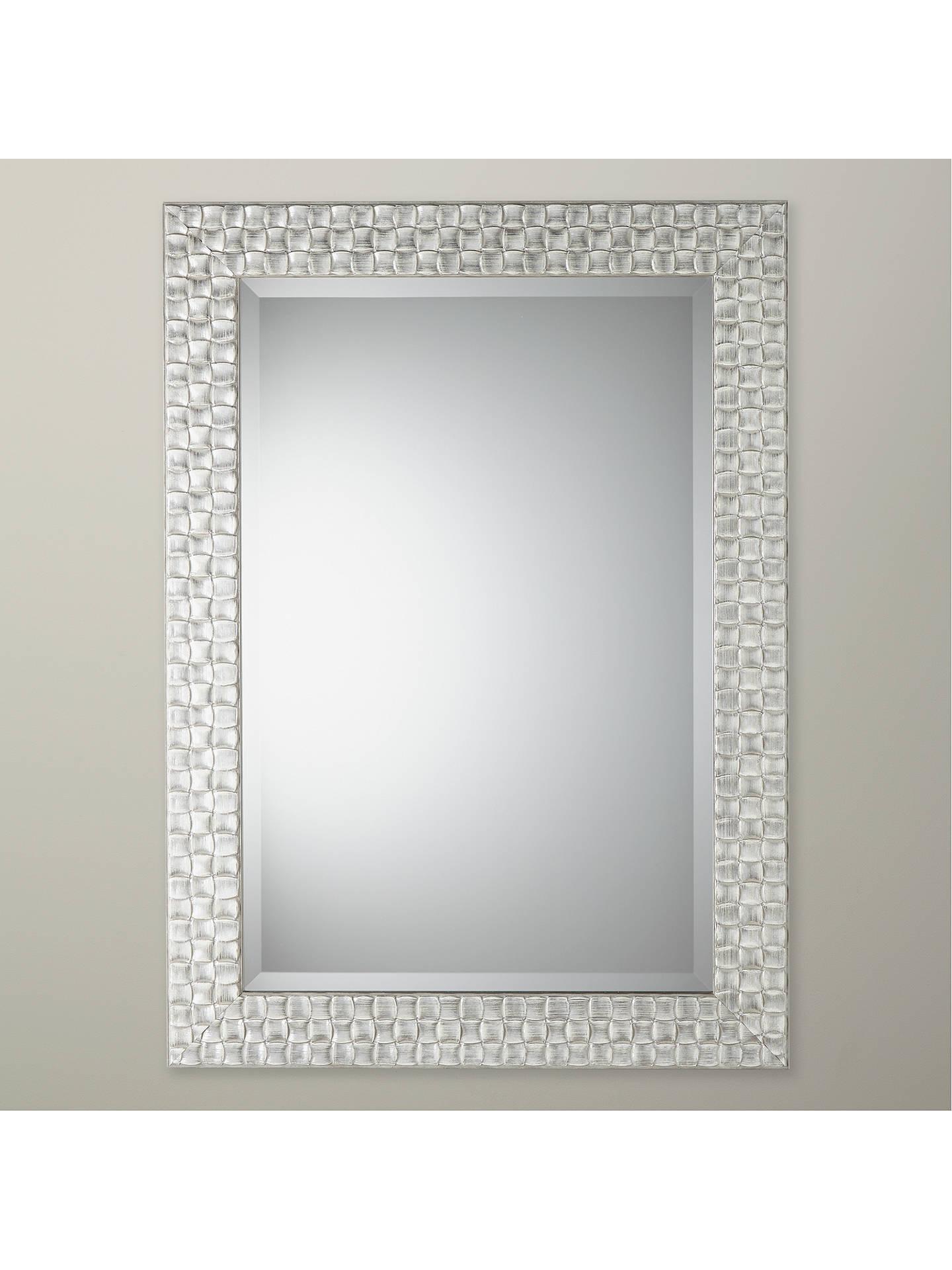 John Lewis Partners Mosaic Mirror Silver White At John Lewis Partners