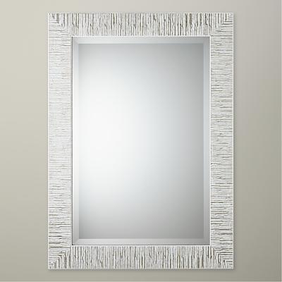 John Lewis & Partners Blanca Mirror, Silver/White