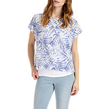 Buy Phase Eight Jungle Print Top, Blues Online at johnlewis.com