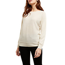 Buy Jaeger Cashmere-Blend Crew Neck Jumper, Ivory Online at johnlewis.com