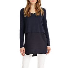 Buy Phase Eight Seraphina Top, Navy Online at johnlewis.com
