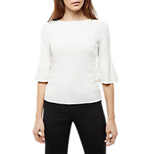 Buy Jaeger Fluted Sleeve Jumper, Ivory Online at johnlewis.com