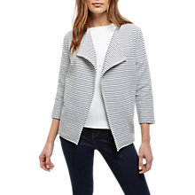 Buy Jaeger Jersey Breton Cardigan, Navy/Ivory Online at johnlewis.com