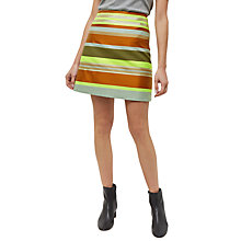 Buy Jaeger Stripe A-Line Skirt, Multi Online at johnlewis.com