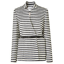 Buy L.K. Bennett Cora Striped Coat, Multi Online at johnlewis.com
