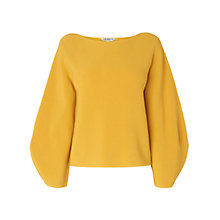 Buy L.K. Bennett Calla Wide Sleeve Jumper, Yellow Online at johnlewis.com