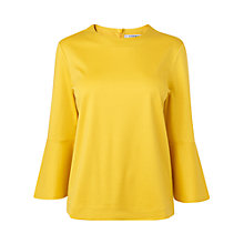 Buy L.K. Bennett Leon Fluted Sleeve Top, Yellow Online at johnlewis.com