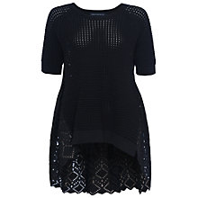 Buy French Connection Bea Broderie Short Sleeve Crew Neck Jumper Online at johnlewis.com