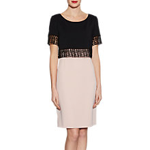 Buy Gina Bacconi Moss Crepe Dress With Lattice Trim Online at johnlewis.com