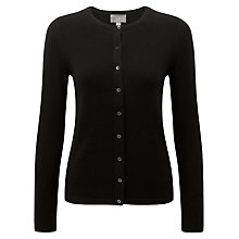 Buy Pure Collection Crew Neck Cashmere Cardigan, Black Online at johnlewis.com