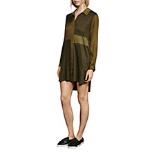 Buy French Connection Kruger Tencel Mix Shirt Dress, Green Online at johnlewis.com