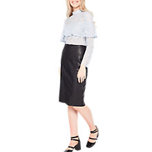 Buy Miss Selfridge Faux Leather Pencil Skirt Online at johnlewis.com