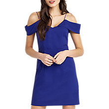 Buy Oasis Bardot Cold Shoulder Dress, Cobalt Blue Online at johnlewis.com