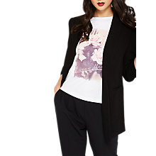 Buy Miss Selfridge Rouched Sleeve Blazer, Black Online at johnlewis.com