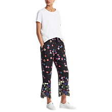 Buy French Connection Botero Lace Tie Waisted Trousers, Biker Berry Online at johnlewis.com