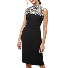 Buy Jaeger Lace Panel Dress, Black Online at johnlewis.com