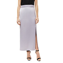 Buy Jaeger Split Detail Skirt, Pale Lilac Online at johnlewis.com
