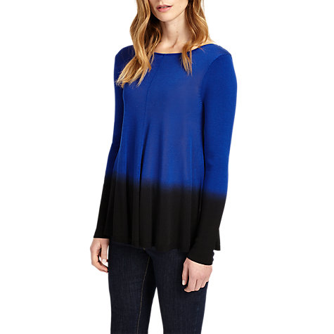 Buy Phase Eight Dapfne Dip Dye Jumper, Cobalt/Black Online at johnlewis.com