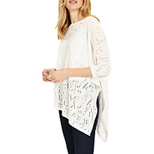 Buy Phase Eight Stitch Detail Melinda Jumper, White Online at johnlewis.com