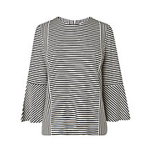 Buy L.K. Bennett Leonie Stripe Fluted Top, Multi Online at johnlewis.com