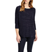 Buy Phase Eight Megg Space Dye Curve Hem Jumper, Navy Online at johnlewis.com