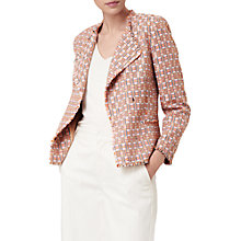 Buy L.K. Bennett Heather Block Tweed Jacket, Pale Pink Online at johnlewis.com