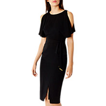 Buy Coast Elina Cold Shoulder Dress, Black Online at johnlewis.com