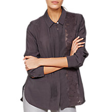 Buy Mint Velvet Lace Insert Shirt, Dark Grey Online at johnlewis.com