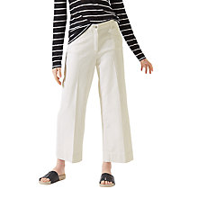 Buy Jigsaw Hoxton Cropped Flared Jeans, Off White Online at johnlewis.com