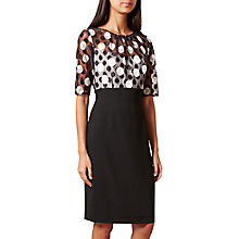 Buy Hobbs Willow Dress, Ivory/Black Online at johnlewis.com