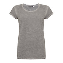 Buy Mint Velvet Woven Sleeve T-Shirt Online at johnlewis.com