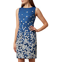 Buy Hobbs Moira Floral Dress, French Blue Multi Online at johnlewis.com