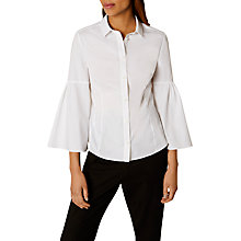 Buy Karen Millen Bell Sleeved Shirt, White Online at johnlewis.com