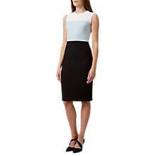 Buy Hobbs Maya Sleeveless Tailored Dress, Ice Blue/Multi Online at johnlewis.com