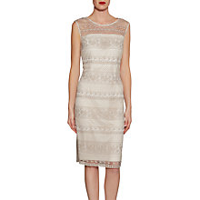 Buy Gina Bacconi Open Panel Embroidery Dress Online at johnlewis.com