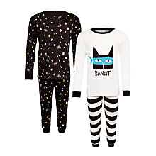 Buy John Lewis Children's Bandit Pyjamas, Pack of 2, Multi Online at johnlewis.com