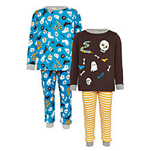 Buy John Lewis Children's Halloween Pyjamas, Pack of 2 Online at johnlewis.com