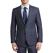 Buy HUGO by Hugo Boss C-Huge Virgin Wool Diamond Weave Suit Jacket, Turquoise Aqua Online at johnlewis.com