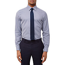 Buy Jaeger Textured Gingham Regular Fit Shirt, Navy Online at johnlewis.com