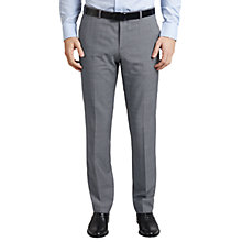 Buy HUGO by Hugo Boss C-Jeffery Textured Wool Regular Fit Suit Trousers, Grey Online at johnlewis.com