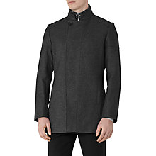 Buy Reiss Forcefull Button Collar Jacket, Grey Melange Online at johnlewis.com