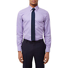Buy Jaeger Bold Gingham Slim Fit Shirt, Blue/Pink Online at johnlewis.com