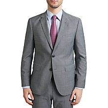 Buy HUGO by Hugo Boss C-Jeffery Textured Wool Regular Fit Suit Jacket, Grey Online at johnlewis.com