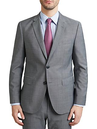 874b277f9d6a1e HUGO by Hugo Boss C-Jeffery Textured Wool Regular Fit Suit Jacket, Grey