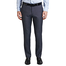 Buy HUGO by Hugo Boss C-Huge Virgin Wool Diamond Weave Suit Trousers, Turquoise Aqua Online at johnlewis.com